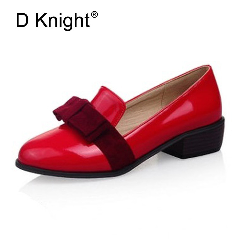 цены  New Oxfords For Women Shallow Mouth Slip-on Loafers Fashion Bow Shoes Pointed Toe Low Heeled Oxfords Size 34-43 Women Flat Shoes
