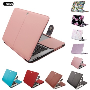 MOSISO New Leather Laptop Case Cover For Macbook Air 11 13 Pro Retina 12 13 15 women Laptop Bag For Macbook Pro 13 Case for men for new macbook air pro retina 11 12 13 15 for macbook pro 13 15 2017 2018 a1708 a1989 floral feather print laptop case cover