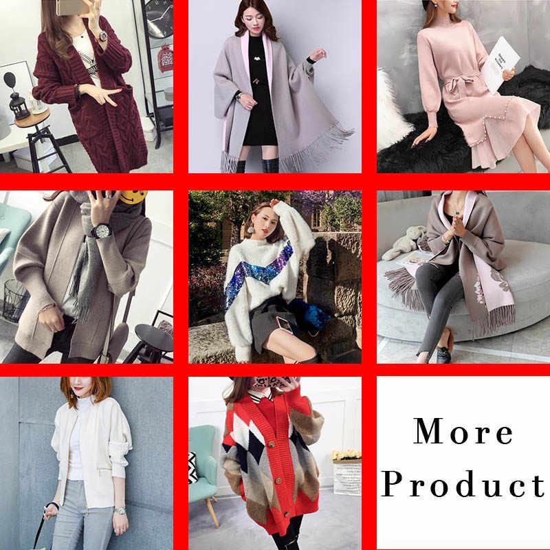 2020 여성 스웨터 밍크 모피 코트 두꺼운 재킷 행운의 가방은 많은 종류의 옷을 포함 봄 가을과 겨울 따뜻한 소프트
