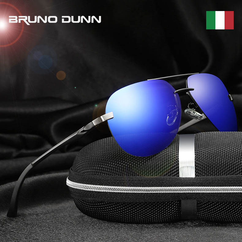 BRUNO DUNN Aviation Sunglasses Polarized Men Brand sunglases Oculos Aviador de sol masculino mirror Sun Glasses male ray 2020(China)