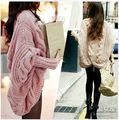 201+ new autumn and winter coarse knitted sweater batwing sleeve cardigan loose cape women's sweater outerwear coats & jackets