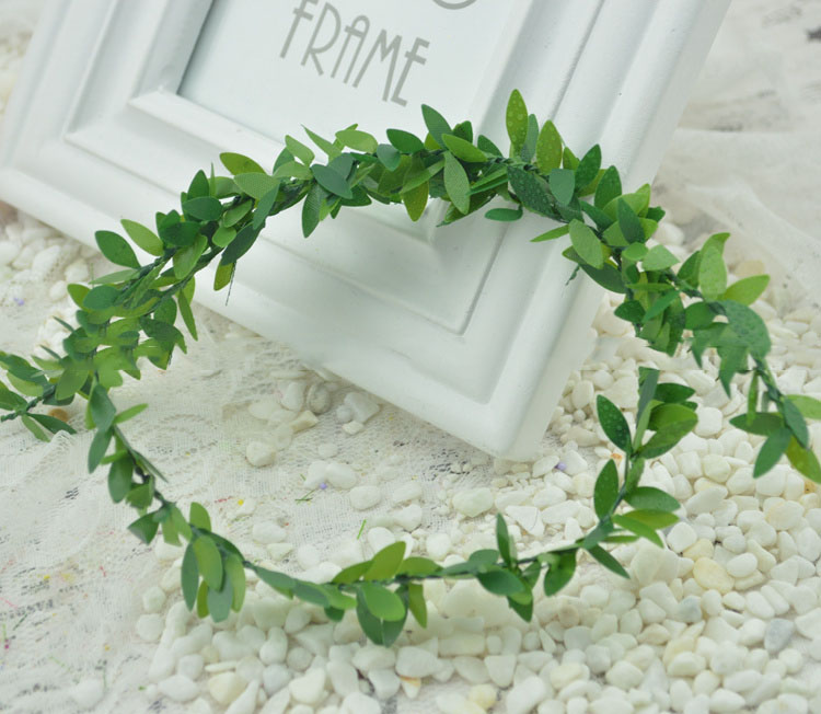 artificial flowers diy handmade christmas wreath material simulation flower decoration branch branches green leaf vine lead