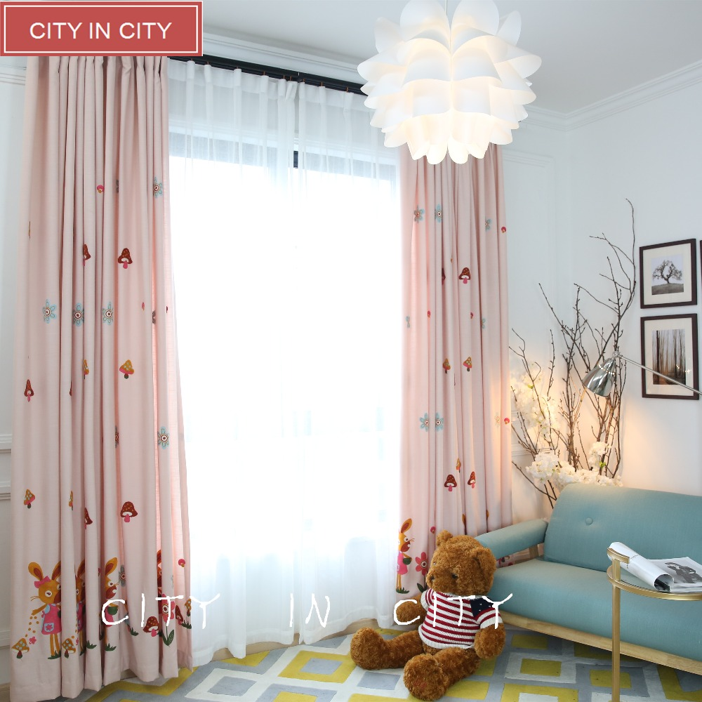 popular embroidered linen drapes buy cheap embroidered linen cityincity home decor 3d curtains cartoon embroidered faux linen fabric for children bedroom livingroom drapes customized