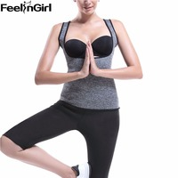 FeelinGirl C Neoprene Body Shaper Sauna Sweat Hot Shapewear Women Workout Slimming Thermo Vest Waist Cincher