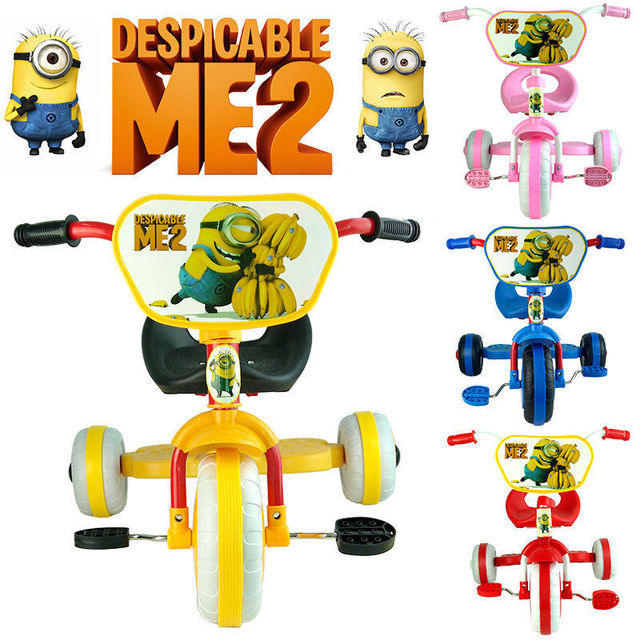 da6c5164577 DESPICABLE ME 2 MINION TRIKE TRICYCLE TODDLER KID CHILD 3 WHEEL CAR RIDE ON  BABY TOY GIFT