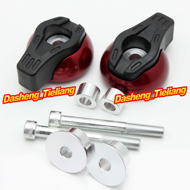 For Yamaha FZ6R 2009 2010 2011 2012 Frame Sliders Crash Pads Protector, Motorcycle Spare Parts Accessories, Red Color motorcycle frame sliders crash engine guard pad aluminium side shield protector for kawasaki ninja zx6r 636 2009 2010 2011 2012