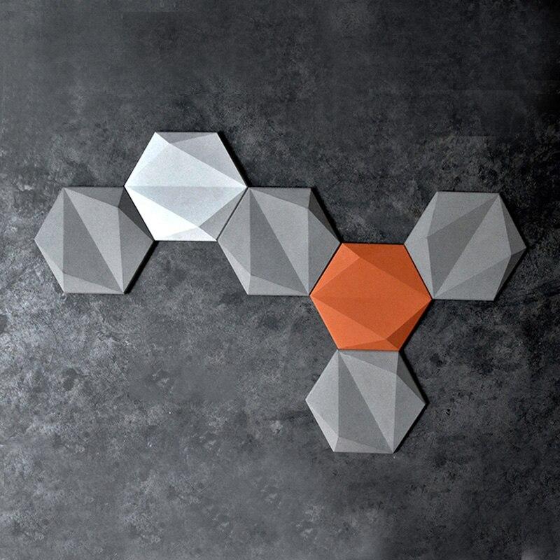 Silicone moules mur de plaque de béton moules TV fond 3D mur de briques moules moules de pierre
