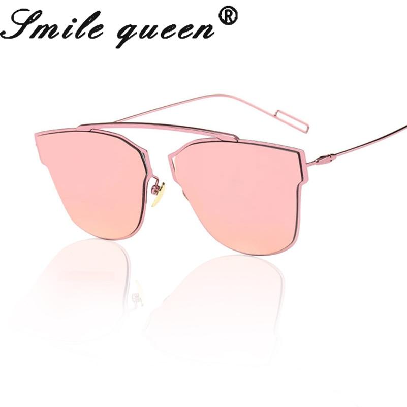 2016 New Brand Design Luxury Cat Eye Sunglasses Women Or Men Metal Girls Sunglasses Pink Oculos De Sol Feminino UV400 Style D