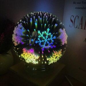 Image 3 - 3D magiczne z kulami kryształowymi lampka nocna kolorowe lampy stołowe USB Power Butterfly Snowflake Universe Rose Lover Home prezenty dla dzieci