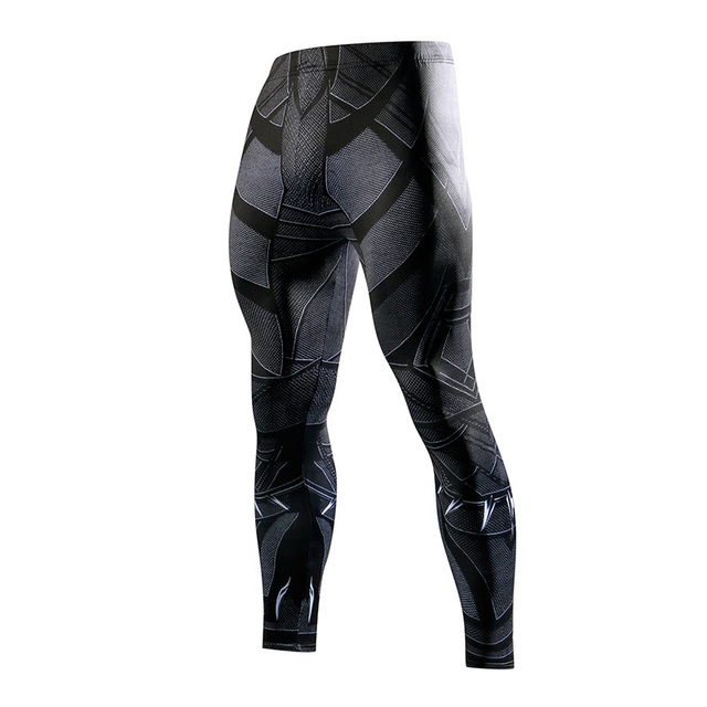 Super hero Running Tights Men Fashion casual Pants Fitness Sport Leggings Men Gym Jogging Trousers Sportswear Compression Pants 3