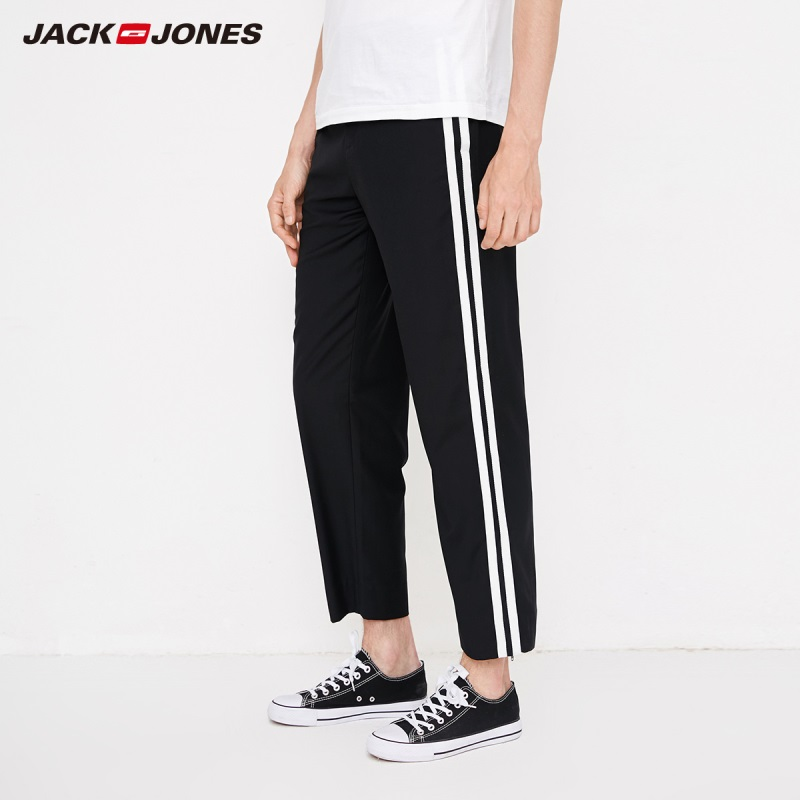 JackJones Men's Contrasting Stripe Sweatpants Loose Style Pants Menswear 218314559