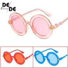 New2019Steampunk Bee Kids Sunglasses Boys Girls Luxury Vintage Children Round Sun Glasses Oculos Feminino Accessories