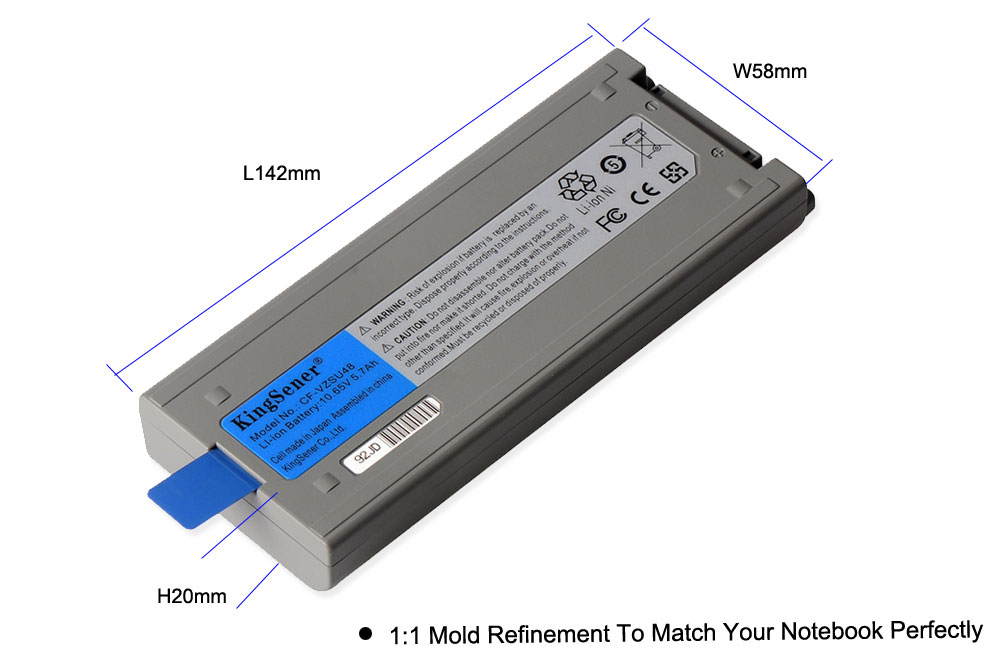 Image 2 - KingSener Japanese Cell New CF VZSU48 Battery for Panasonic CF VZSU48 CF VZSU48U CF VZSU28 CF VZSU50 CF 19 CF19 Toughbook-in Laptop Batteries from Computer & Office
