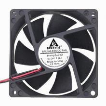 Gdstime 24 V Шаровой 8025B 80 мм x 80 мм x 25 мм 80 мм 24 вольт постоянного тока 2Pin XH2.54 охлаждающий вентилятор постоянного тока