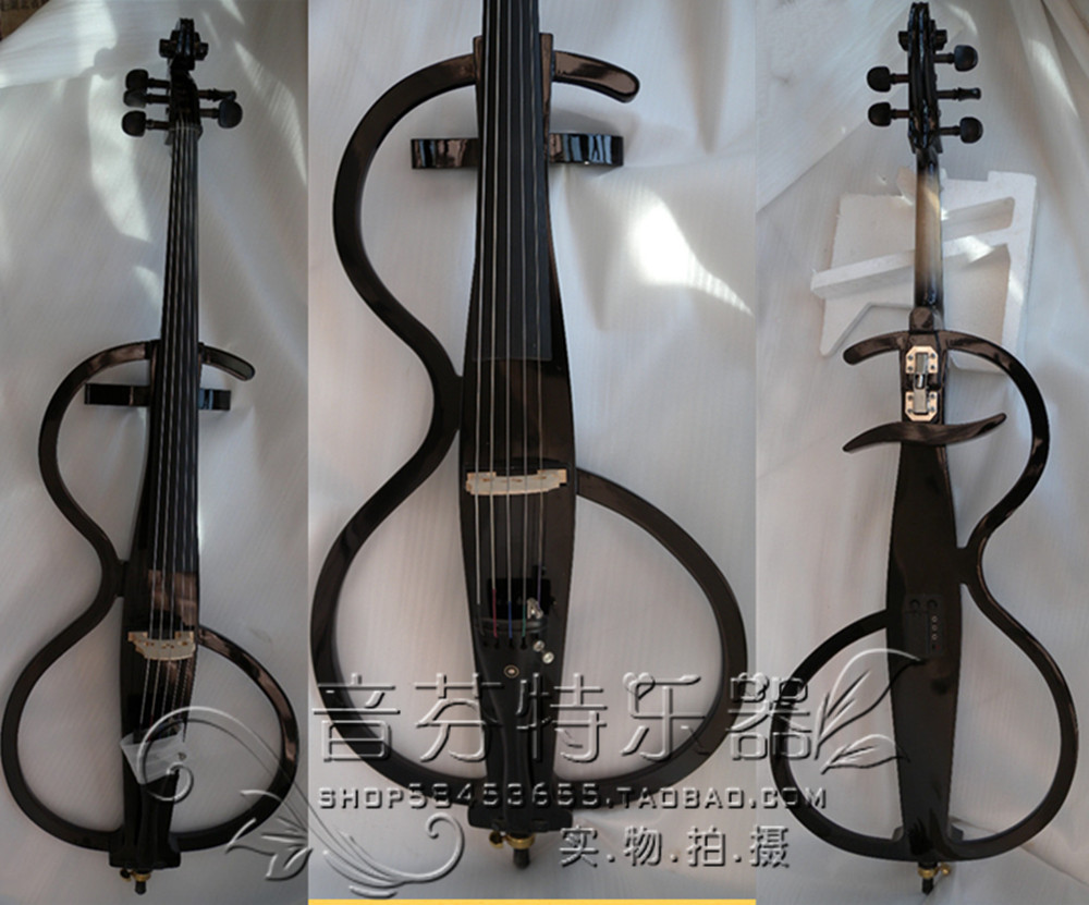 Full Size 4/4 Electric Silent Cello Pickup+Bag+Case+4/4 Cello Bow+Quality 5 string cello electronic cello black  ebony belcat bass pickup 5 string humbucker double coil pickup guitar parts accessories black