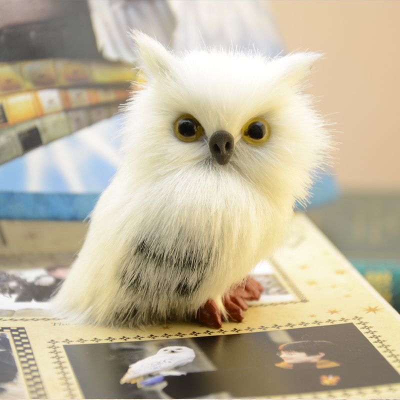 HP 7cm High Cute  Snowy Owl Hedwig Potters Letter Delivery Doll Cute Toys Harried Birthday Christmas Adults Kids
