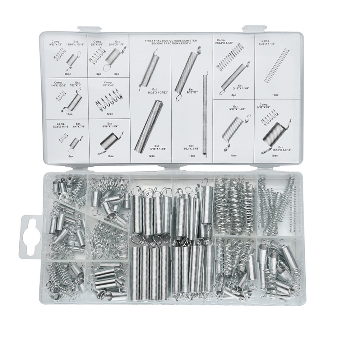 200PCS/set Hardware Tension Spring Compression Spring Set in Box 20 Size Springs Assortment image