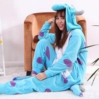 Wholesale Skeleton Leopard Tiger Unisex Flannel Hoodie Pajamas Costumes Nightgowns Animal Onesies Sleepwear For Adults Women