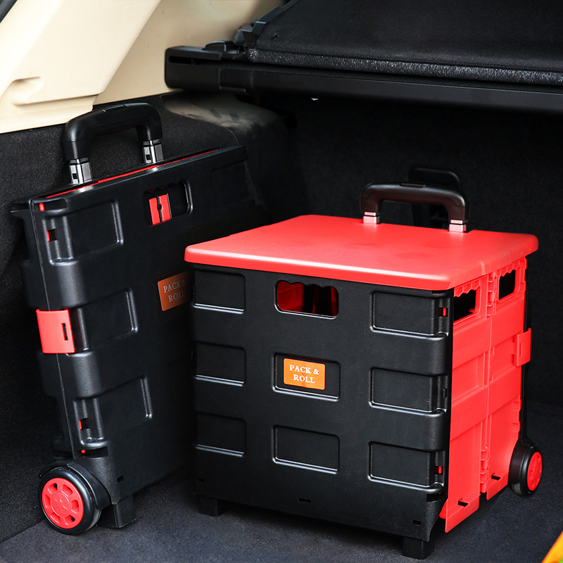 Car Folding Trunk Storage Box Plastic Storage Box Multifunction Container Finishing Case Truck Trunk