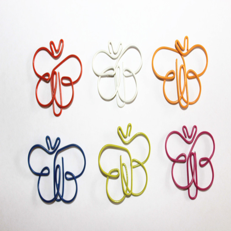 animal paper clips + shappy multicolor paper clips creative animal shape for bookmark office  school notebook agenda pad, 12 + smiling binder clips ,19mm ,assorted  colors.