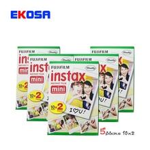 100 Sheets Fuji Fujifilm Instax Mini Film For Instant Camera Mini 8 7s 25 50s  White Edge 3 inch film Photo Paper Free Shipping