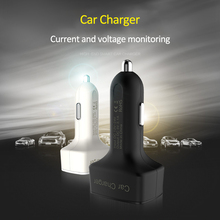 Dual USB Charger DC5V Universal 4 In 1 Car with Voltage/Temperature/Current Meter Tester Adapter Digital LED Display