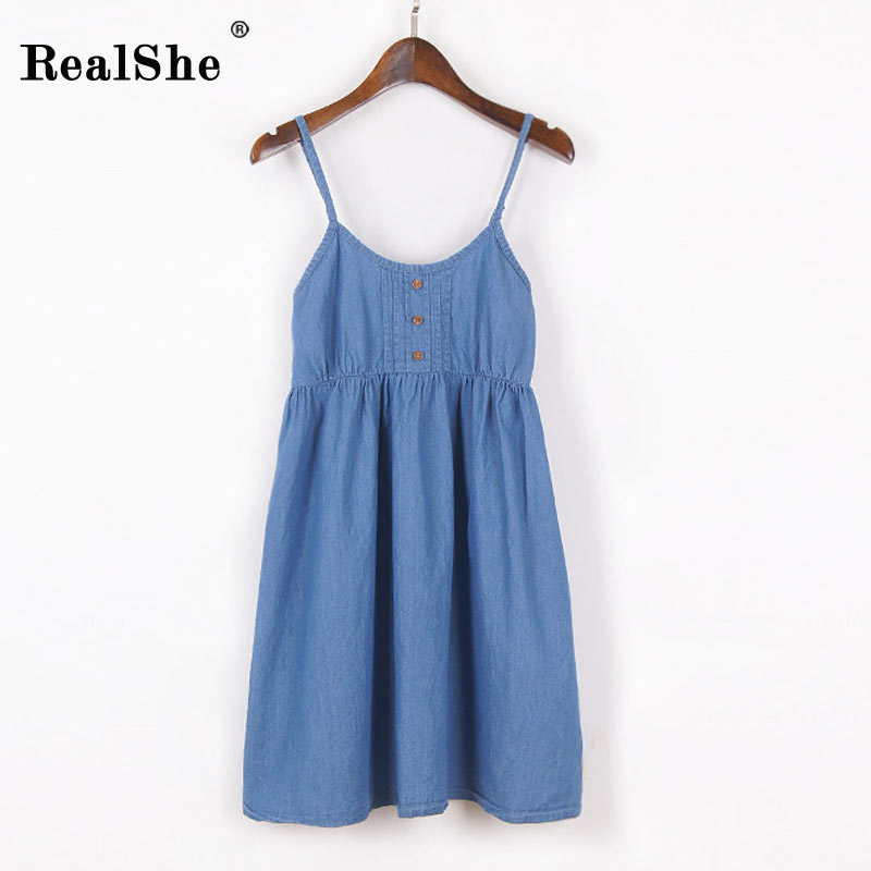 RealShe Women Summer Dress 2017 Woman Sleeveless Floral Print Beach Mini Spaghetti Strap Dress Woman Sexy Boho Dress Vestidos