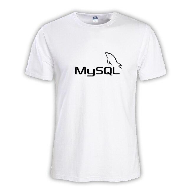 2017 new summer fashion Mens T-SHIRT Geek NERD freak hacker pc gamer systems programmer boy big size tees male MySQL database