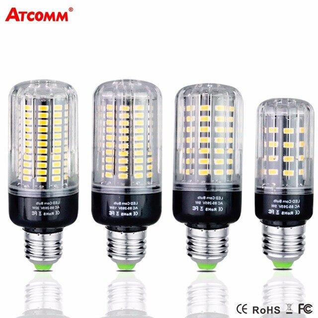 Ampoule LED E27 Lamp 5W 10W 15W 20W 85-265V SMD 5736 High Lumen 38 85 115 125 LEDs Diode Corn Bulbs
