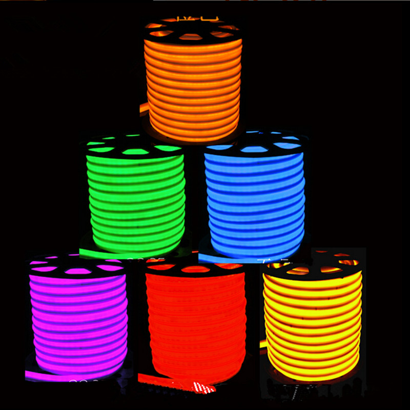 Rgb color led strip rope light 20 100m 60 leds meter ultra bright high quality led flex neon rope light waterproof ip66 80ledm f5 led neon flexible mozeypictures Images