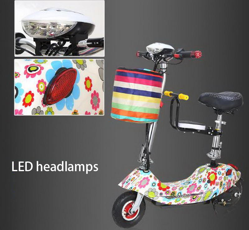 Flash Deal 261025/Ladies mini folding car bicycle scooter adult student portable two rounds/Scrub pedal 30-50km/h velo electrique 12