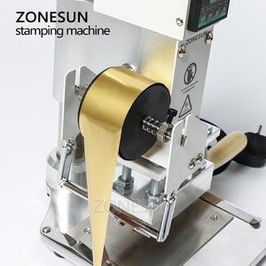 Image 5 - ZONESUN ZS 100A özel Logo sıcak folyo damgalama makinesi manuel bronzlaştırıcı makinesi PVC kart deri kağıt kalem damgalama makinesi