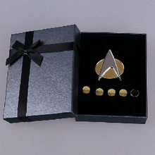 ST Emblema Do Star Trek The Next Generation Da Lembrança Emblema Do Metal Pin & Classificação Pip/Pips 6 pcs Set Cosplay prop(China)