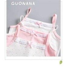 Девочки майки хлопок o-образным вырезом слинг базовый цвет дна цветок мягкий обтяжку Девушки эксцентричная одежда рубашка