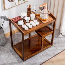 Chinese Antique Kung Fu Tea Table Tea Cart Removable Home Simple Induction Cooker Tea Cabinet Nan Bamboo Small Table все цены