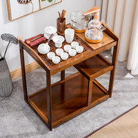 Chinese Antique Kung Fu Tea Table Tea Cart Removable Home Simple Induction Cooker Tea Cabinet Nan Bamboo Small Table