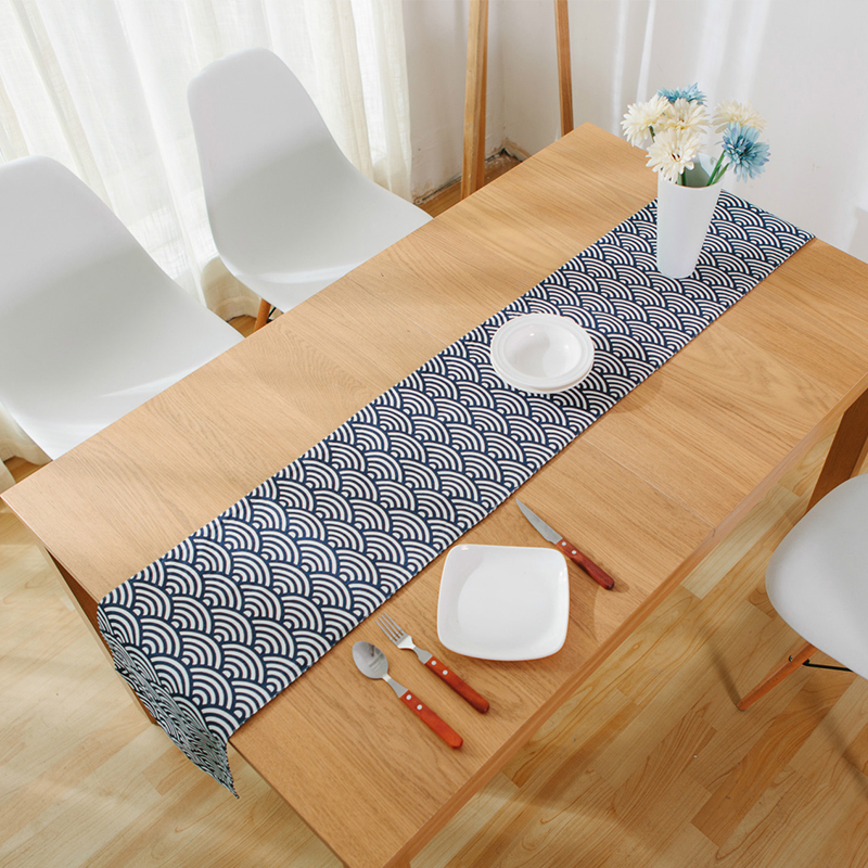 blue table runners fabric weeding decoration mariage chemin de