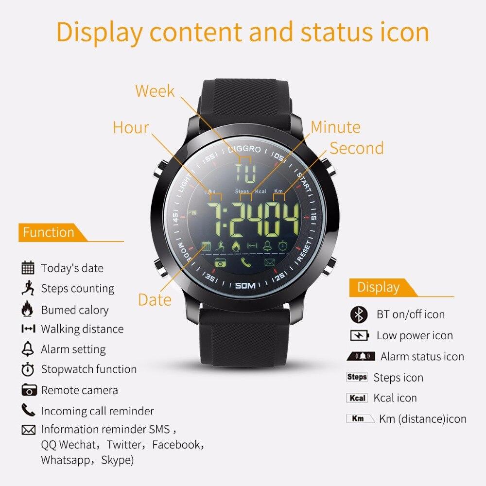 US $17 09 10% OFF Diggro EX18 Inteligentny Zegarek 5ATM Profesjonalny  Wodoodporny Bluetooth Krokomierz Kalorii Przypomnienie Sportowe Opaski Dla