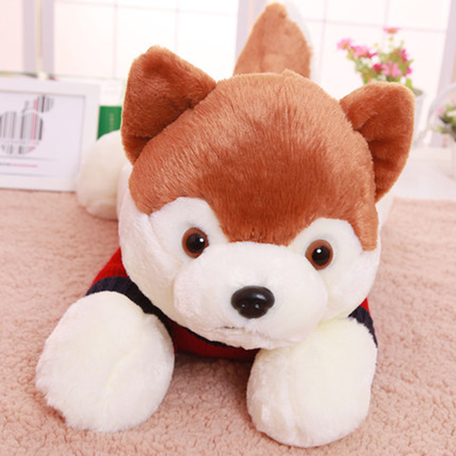 Cute Animal Soft Stuffed Plush Toys Pluche Stuffe Speelgoed Kids Gift Stuffed Animals Plush Dog Toy Soft Plush Doll 80C0348 super cute plush toy dog doll as a christmas gift for children s home decoration 20