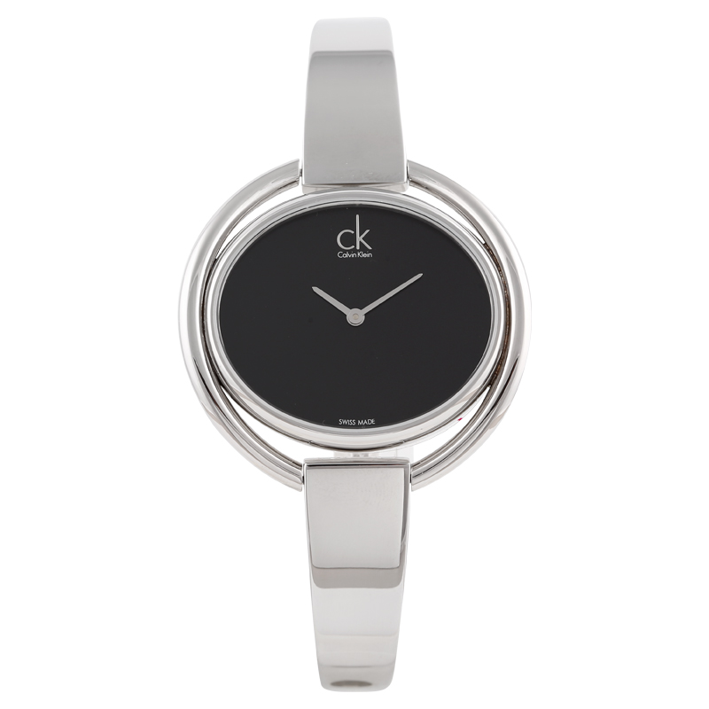 CalvinKlein IMPETUOUS series black plate quartz female watch K4F2N111