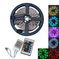500CM 25W 300X3528 SMD RGB LED Strip Light W/ Remote Controller  (DC 12V )