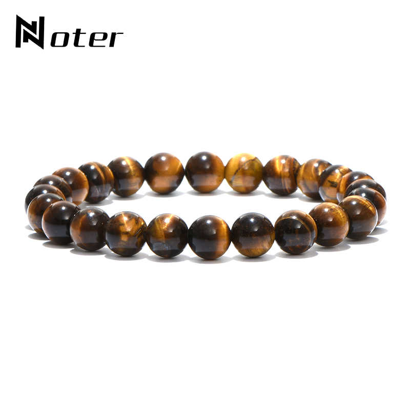 Noter Minimalist Natural Stone Beads Bracelet Charm Opal Tiger Eyes Braslet  For Men Women Hand Jewelry Homme Yoga Braclet Gift