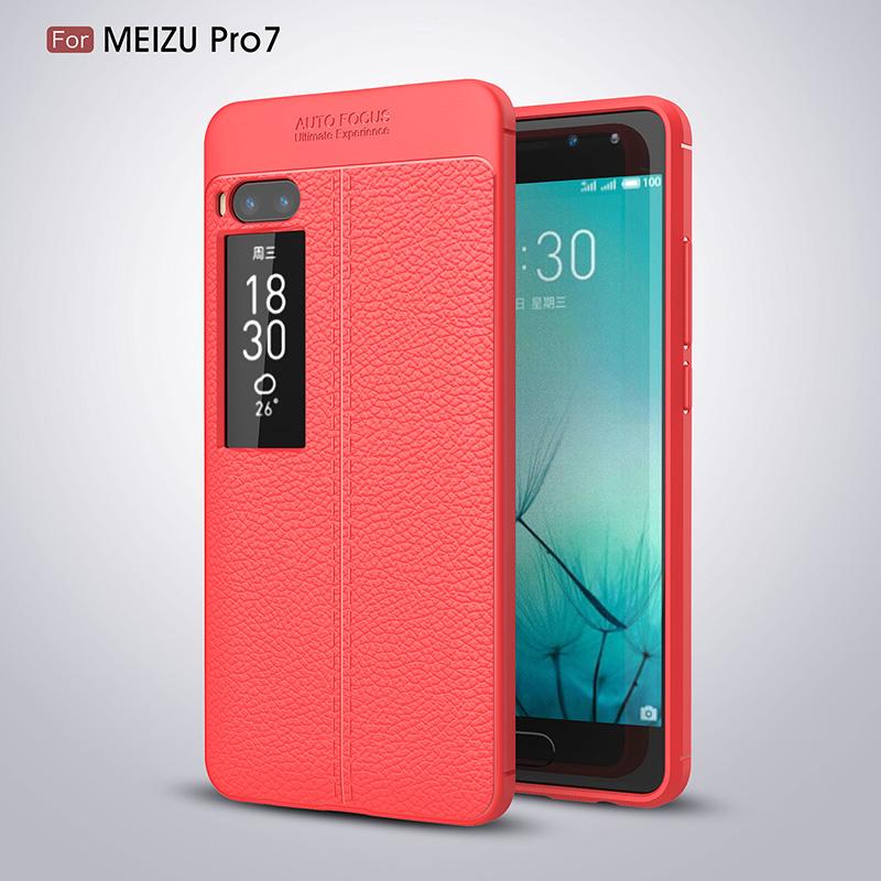Litchi leather silicone case Meizu Pro 7 (15)