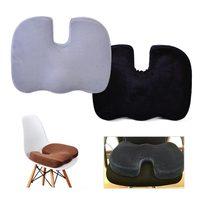 DWCX Nowy Fotelik Pianka U Kształt Kości Ogonowej Ortopedyczne Poduszki Pad Lędźwiowego Tailbone Back Pain Relief Dla Większości Samochodów