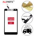 Original Tested Sensor Outer Glass Panel For LG Optimus L9 II D605 Touch Screen Digitizer Glass Panel Parts Free Adhesive