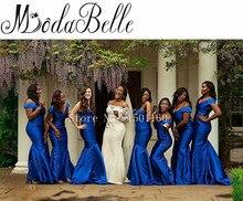 Royal Blue Bridesmaid Dress Vestido Invitada Boda Floor Length Wedding Party Dress Vestidos De Festas Sexy Mermaid Dresses