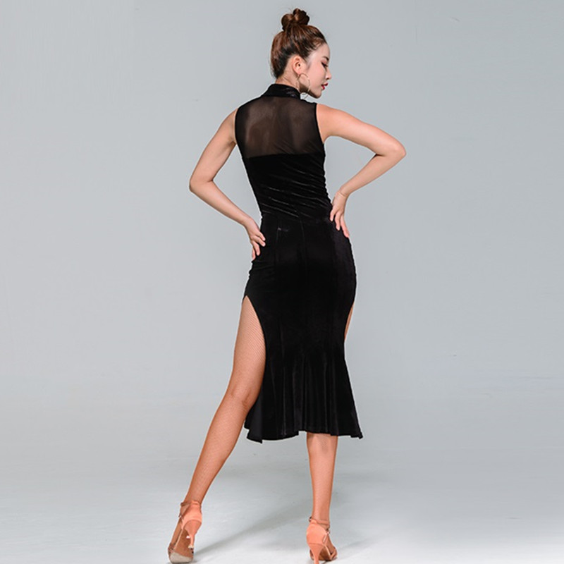 Picture of  Women #39;S Latin Dance Dress Latin Ballroom Dress Modern Dance Costume Sexy Tango Dresses Dance Clothes Dancewear Latin Dress