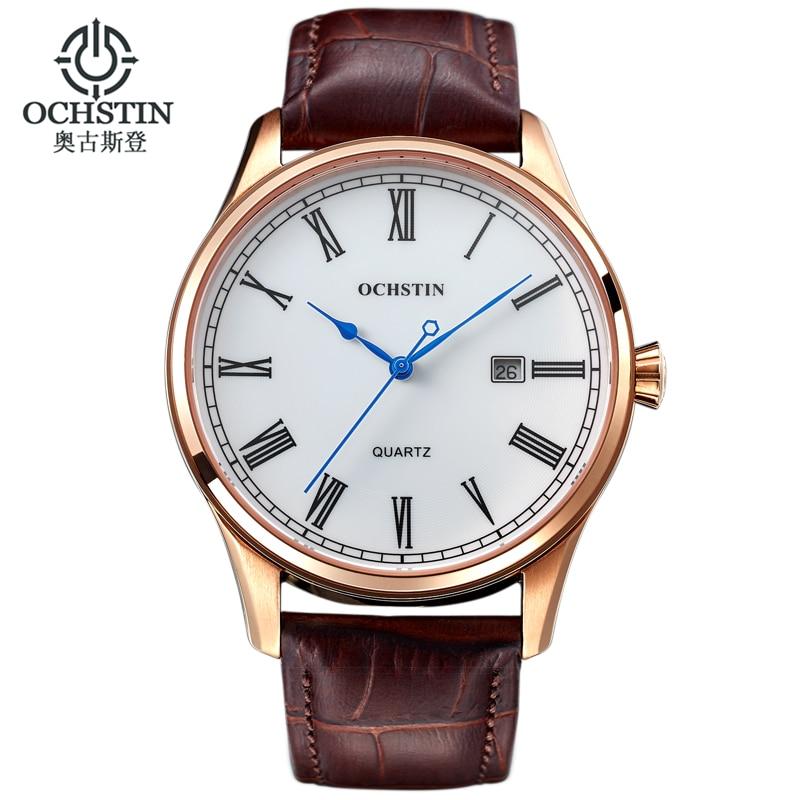 2016 Ochstin Luxury Watch Men Top Brand Military Quartz Wrist Male Leather Sport Watches Women Men's Clock Fashion Wristwatch