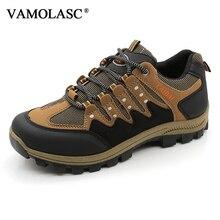 VAMOLASC New Men Outdoor Waterproof PU Hiking Shoes Camping footwear Breathable Mountain Walking Trekking Boots