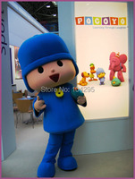 Ohlees бренд Забавный синий Poyoco человек персонаж маскот костюмы подарок ребенок взрослые Размер Рождество Хэллоуин платье